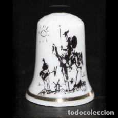 Collectionnisme de dés à coudre: DEDAL PORCELANA - QUIJOTE Y SANCHO (PICASSO). Lote 218032791