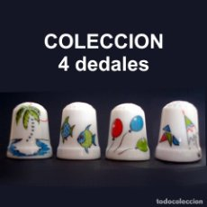 Coleccionismo de dedales: DEDAL PORCELANA - MOTIVOS INFANTILES (COLECCIÓN 4 DEDALES). Lote 28200861