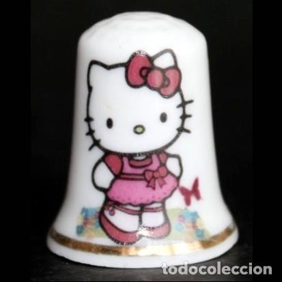 DEDAL PORCELANA -HELLO KITTY (Coleccionismo - Dedales)