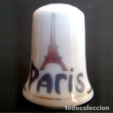 Coleccionismo de dedales: DEDAL PORCELANA - PARIS. Lote 162934893