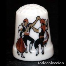Coleccionismo de dedales: DEDAL PORCELANA - SARDANA. Lote 80087298