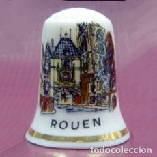 Colecionismo de dedais: DEDAL PORCELANA - ROUEN (GRAN RELOJ). Lote 39845509