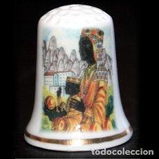 Coleccionismo de dedales: DEDAL PORCELANA - LA MORENETA (MONTSERRAT - BARCELONA). Lote 251392370