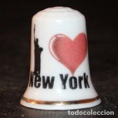 Coleccionismo de dedales: DEDAL PORCELANA - I LOVE NEW YORK. Lote 166568965