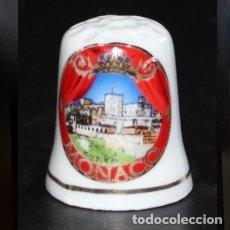 Coleccionismo de dedales: DEDAL PORCELANA - MONACO. Lote 184029652
