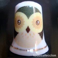 Coleccionismo de dedales: DEDAL PORCELANA - BUHO. Lote 38450100