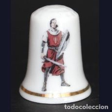 Coleccionismo de dedales: DEDAL PORCELANA - CAPITÁN TRUENO. Lote 242439635