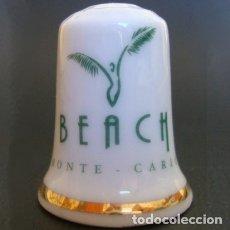 Coleccionismo de dedales: DEDAL PORCELANA - BEACH HOTEL (MONTE-CARLO). Lote 30453022