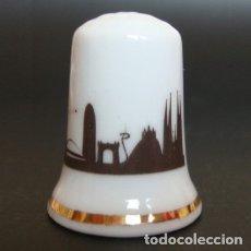 Coleccionismo de dedales: DEDAL PORCELANA - BARCELONA (SKYLINE). Lote 30996883