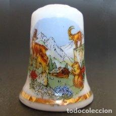 Coleccionismo de dedales: DEDAL PORCELANA - PAISAJE ALPINO. Lote 217041495