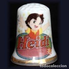 Coleccionismo de dedales: DEDAL PORCELANA - HEIDI. Lote 227053120