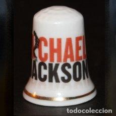 Coleccionismo de dedales: DEDAL PORCELANA - MICHAEL JACKSON. Lote 226621600