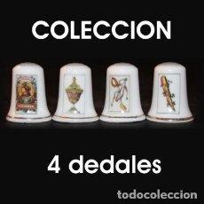 Coleccionismo de dedales: DEDAL PORCELANA - NAIPES (COLECCIÓN 4 DEDALES). Lote 204341248