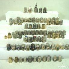 Coleccionismo de dedales: IMPORTANTE COLECCION 81 DEDALES ANTIGUOS - METAL PLATA COBRE BRONCE ALPACA -DEDAL. Lote 172024883