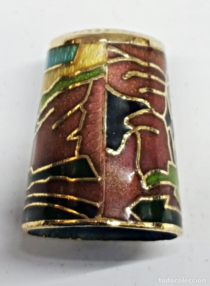 Coleccionismo de dedales: Dedal de metal esmaltado de RONDA - Foto 2 - 178970621