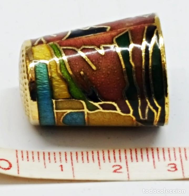 Coleccionismo de dedales: Dedal de metal esmaltado de RONDA - Foto 3 - 178970621