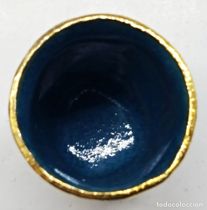 Coleccionismo de dedales: Dedal de metal esmaltado de RONDA - Foto 5 - 178970621