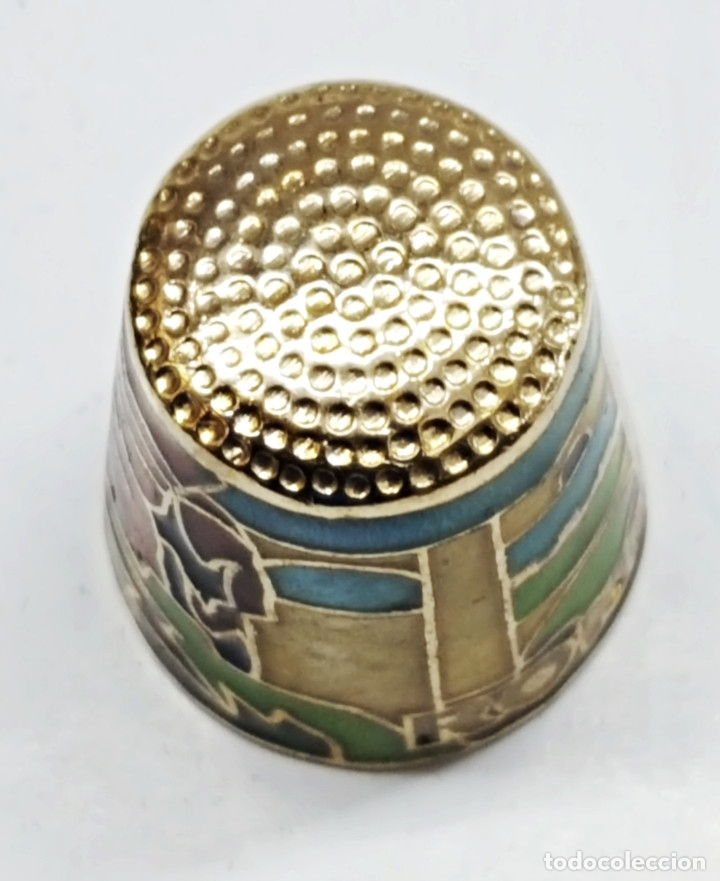 Coleccionismo de dedales: Dedal de metal esmaltado de RONDA - Foto 6 - 178970621