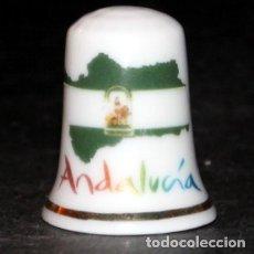 Coleccionismo de dedales: DEDAL PORCELANA - ANDALUCIA. Lote 181426037