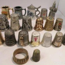 Coleccionismo de dedales: INTERESANTE LOTE DE 20 DEDALES DIFERENTES. Lote 183614428