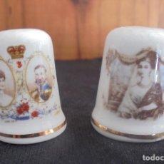 Coleccionismo de dedales: 2 DEDALES FAMILIA REAL INGLATERRA. Lote 190549292