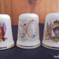 Coleccionismo de dedales: 3 DEDALES FAMILIA REAL INGLATERRA. Lote 190550573