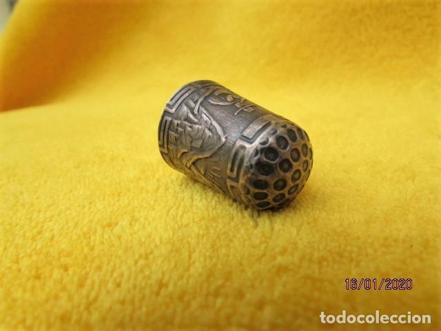 Coleccionismo de dedales: RARO DEDAL ÉPOCA COLONIAL DECORACIÓN ANDINA DE PLATA LEY 925 - Foto 5 - 191015395