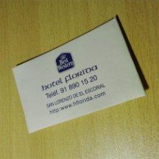 Coleccionismo de dedales: SEWING KIT / COSTURERO - HOTEL FLORIDA BEST WESTERN - SAN LORENZO DE EL ESCORIAL / MADRID. Lote 193744157