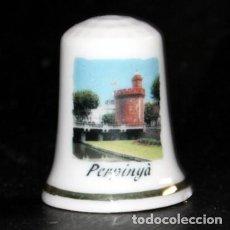 Coleccionismo de dedales: DEDAL PORCELANA - PERPINYÀ (PERPIGNAN - PERPIÑAN). Lote 199275527