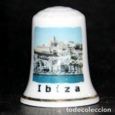 Coleccionismo de dedales: DEDAL PORCELANA - IBIZA (EIVISSA). Lote 199275827