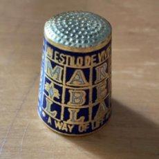 Coleccionismo de dedales: DEDAL ESMALTADO FLOR MARBELLA. Lote 203578548