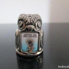 Coleccionismo de dedales: DEDAL VERGE DE PALLEROLS LECHUZA METAL. Lote 204703747