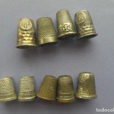 Coleccionismo de dedales: LOTE 9 DEDALES METALICOS. Lote 205694025