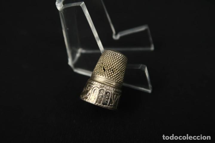 Coleccionismo de dedales: Antiguo Dedal de Plata Francia Finales Siglo XIX - Foto 2 - 207983048