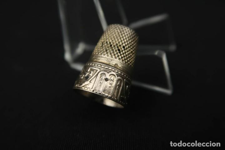 Coleccionismo de dedales: Antiguo Dedal de Plata Francia Finales Siglo XIX - Foto 5 - 207983048