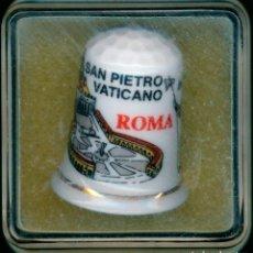 Coleccionismo de dedales: DEDAL DE ROMA, SAN PIETRO VATICANO, CON ESTUCHE DE PLÁSTICO. Lote 210594185