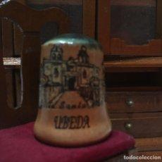 Coleccionismo de dedales: DEDAL DE SANTA ÚBEDA (JAÉN). Lote 215756607