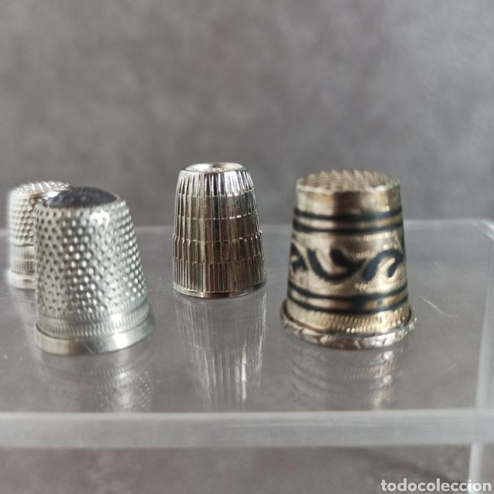 Coleccionismo de dedales: Lote de 5 dedales metálicos de colección - Foto 2 - 147046426