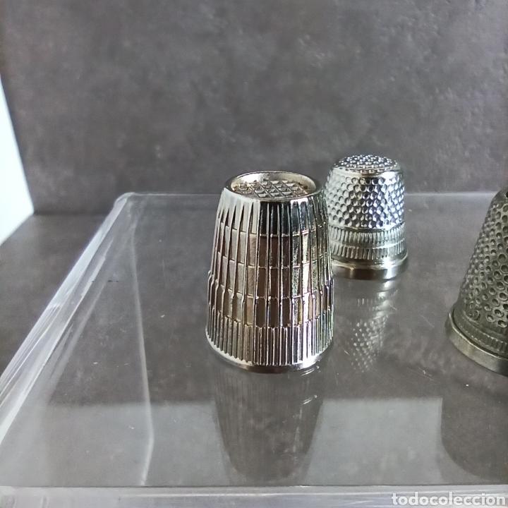 Coleccionismo de dedales: Lote de 5 dedales metálicos de colección - Foto 4 - 147046426