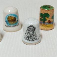 Coleccionismo de dedales: LOTE DEDALES DE MATALASCAÑAS, HUELVA. Lote 235619095