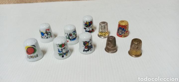LOTE DE DEDALES VARIOS PORCELANA Y METAL (Coleccionismo - Dedales)