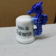 Coleccionismo de dedales: ~ DEDAL RECUERDO DE TABARCA ~. Lote 239706885