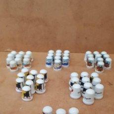 Coleccionismo de dedales: LOTE DE 60 DEDALES NUEVOS. - DEDAL DE PORCELANA DE COLECCION - 6 MODELOS DIFERENTES (10 DE CADA). Lote 251765865