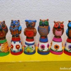 Coleccionismo de dedales: DEDAL BUHO. ARTESANIA DE PARAGUAY. Lote 255016980