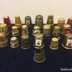 Coleccionismo de dedales: COLECCIÓN DE DEDALES DE LATÓN 21 UNIDADES. Lote 262837290