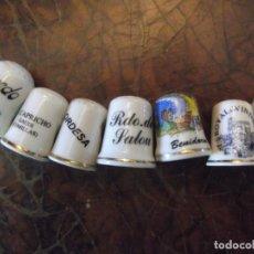 Coleccionismo de dedales: LOTE 7 DEDALES DE LUGARES DISTINTOS ( COLECCIÓN PRIVADA , NO HAY REPETIDOS ). Lote 263541345