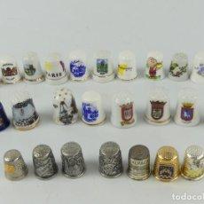Coleccionismo de dedales: COLECCIÓN DE DEDALES 26 UNIDADES. Lote 285623358