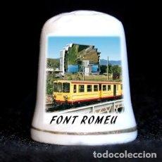 Coleccionismo de dedales: DEDAL PORCELANA - FONT ROMEU. Lote 295969678