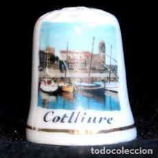 Coleccionismo de dedales: DEDAL PORCELANA - COTLLIURE. Lote 295969828
