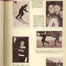 Coleccionismo deportivo: JUEGOS OLIMPICOS OSLO 1952. ALBUM DE CROMOS COMPLETO. . Lote 26272259